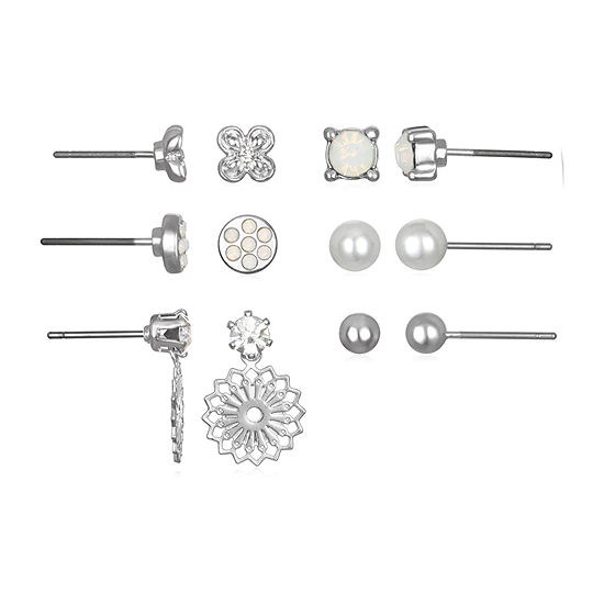Mixit 6 Pair Flower Earring Set