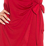 24/7 Comfort Apparel Long Sleeve Wrap Dress
