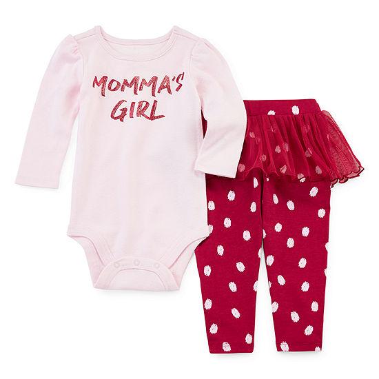Okie Dokie Girls 2-pc. Bodysuit Set-Baby