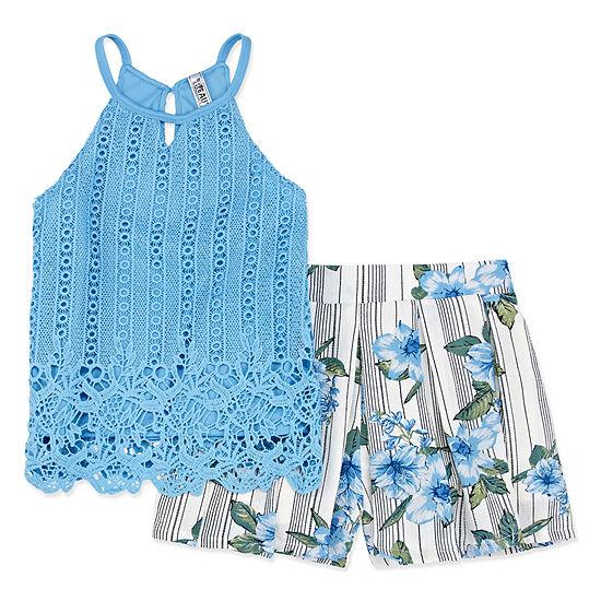 Knit Works Short Sets Girls 2-pc. Short Set Big Kid