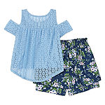Knit Works Short Sets Girls 2-pc. Short Set Big Kid