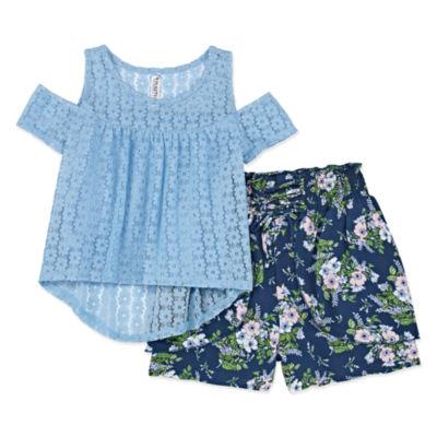 Knit Works Short Sets 2-pc. Short Set Girls