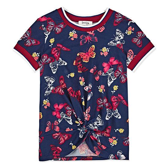 Speechless Little & Big Girls Round Neck Short Sleeve Graphic T-Shirt