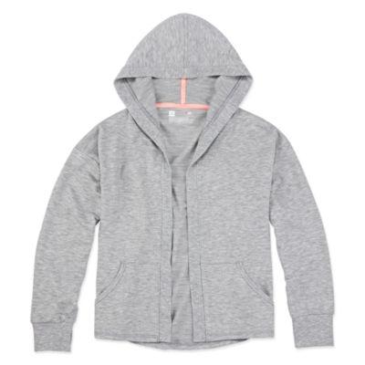 Xersion Girls Hooded Neck Long Sleeve Hooded Cardigan Preschool / Big Kid