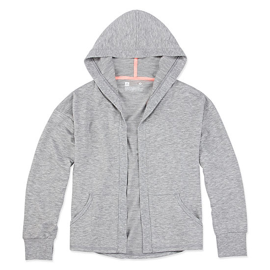 Xersion Girls Long Sleeve Hooded Cardigan Preschool / Big Kid