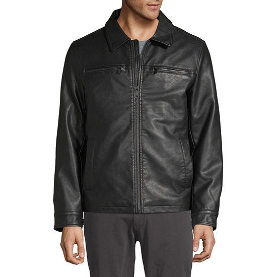 Dockers Faux Leather Midweight Bomber Jacket