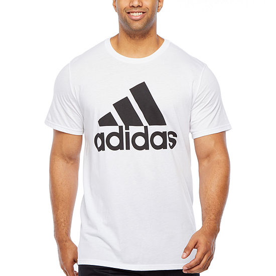 Adidas D2m Pl T Lo Mens Crew Neck Short Sleeve T-Shirt-Big and Tall