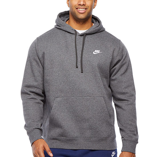 Nike-Big and Tall Mens Long Sleeve Embellished Hoodie
