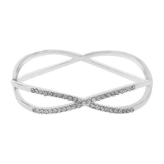 Liz Claiborne Silver Tone Bangle Bracelet