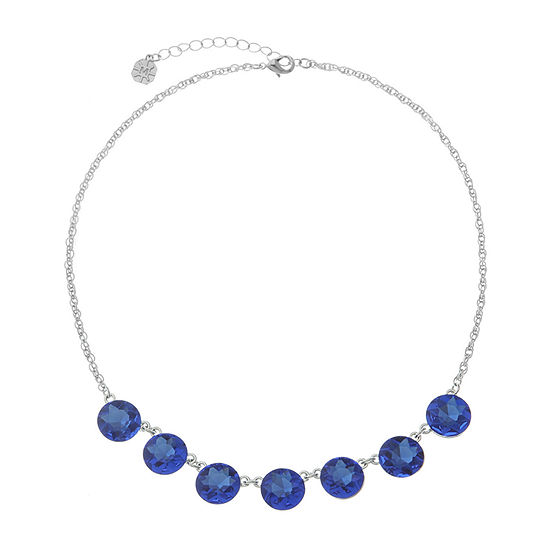 Monet Jewelry Blue 17 Inch Rope Collar Necklace