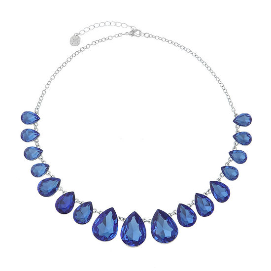 Monet Jewelry Blue 17 Inch Cable Collar Necklace