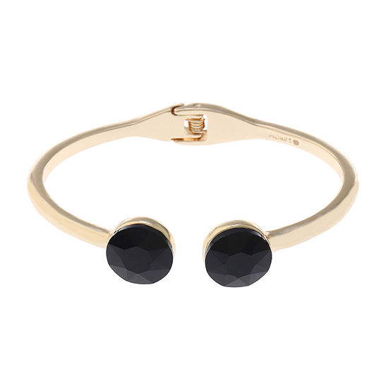 Monet Jewelry Black Gold Tone Bangle Bracelet