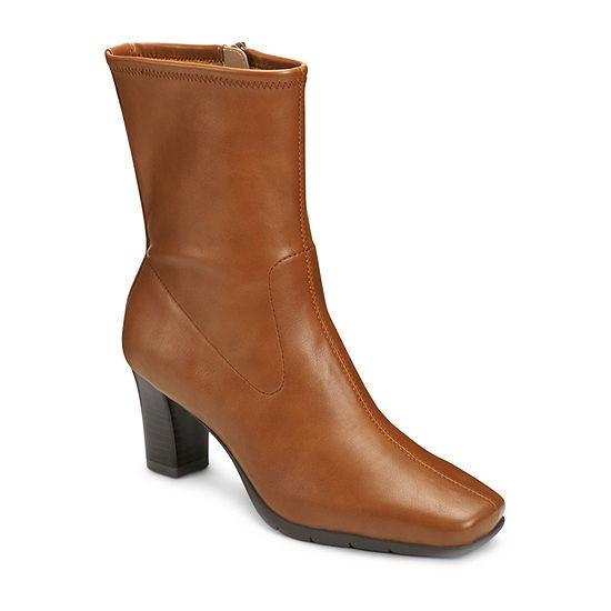 A2 by Aerosoles Womens Cinnamon Booties Stacked Heel