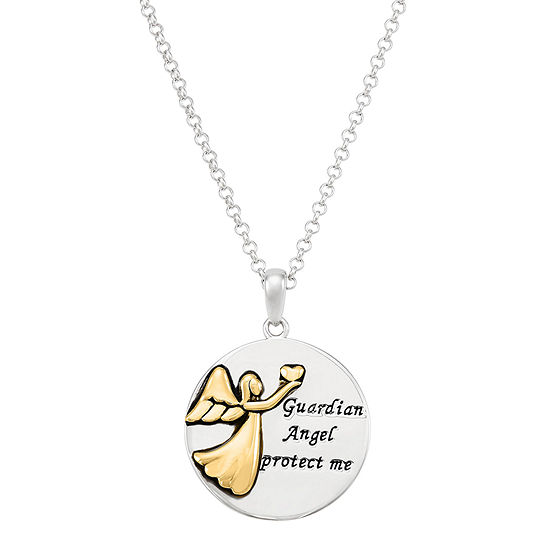 Forever Inspired Womens Sterling Silver Pendant Necklace