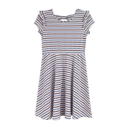 Lilt Girls Short Sleeve Skater Dress - Preschool / Big Kid