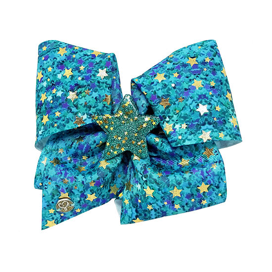 Jojo Siwa Signature Mint Confetti n Star Bow