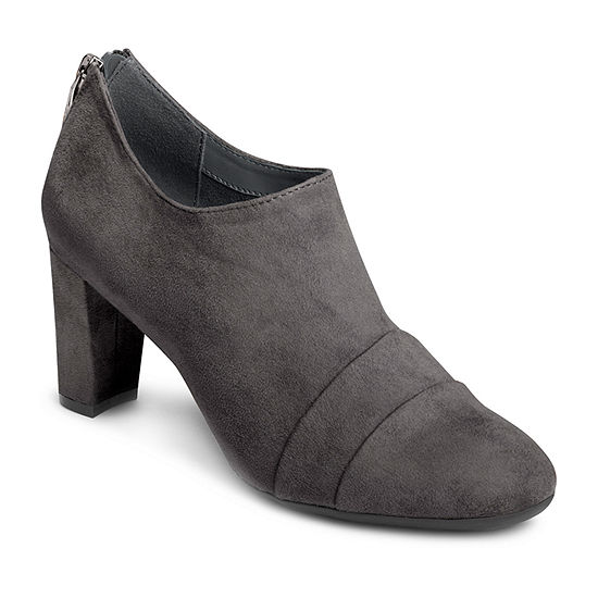 Aerosoles Womens Central Ave Zip Round Toe Booties