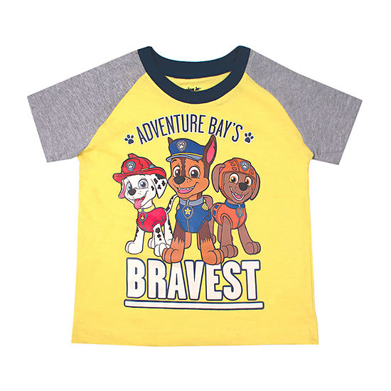 Nickelodeon Boys Crew Neck Short Sleeve Paw Patrol Graphic T-Shirt-Toddler