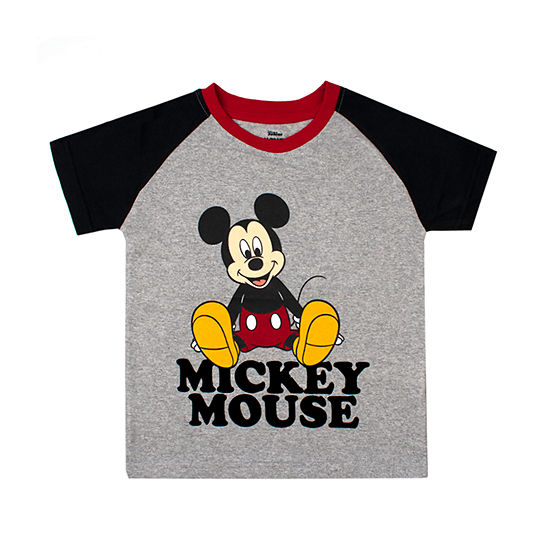 Disney Boys Crew Neck Short Sleeve Mickey Mouse Graphic T Shirt Toddler