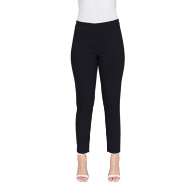 Larry Levine Womens Slim Fit Ankle Pant