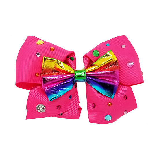 Jojo Swia Signature Rainbow Metalic Bow On Stones