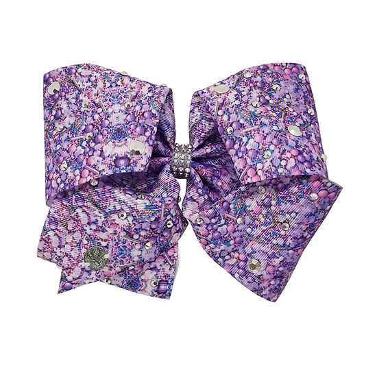 Jojo Siwa Signature Lilac Sprinkle Bead Bow