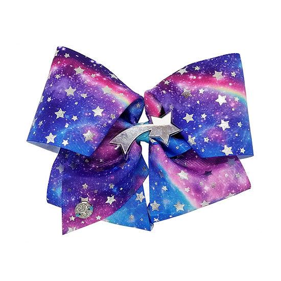 Jojo Siwa Signature Blue n Purple Galaxy Print Bow