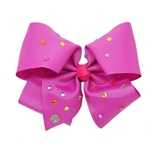 Jojo Siwa Signature Purple Rainbow Hearts Bow
