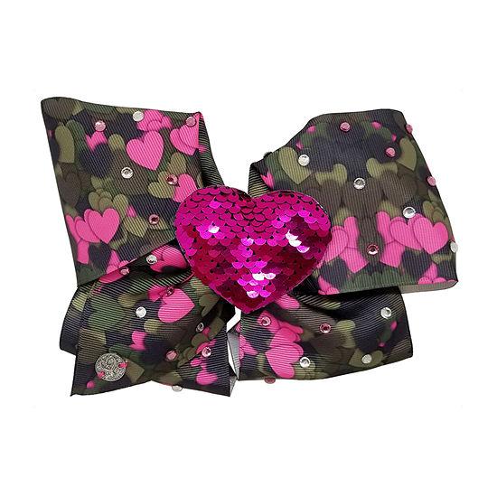 Jojo Siwa Signature Camo Pink Heart Print Bow