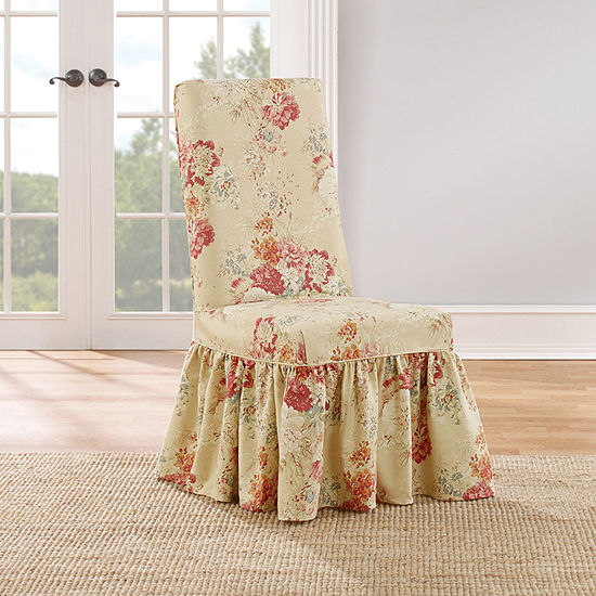 Magnificent Sure Fit Ballad Bouquet 1Pc Dining Chair Slipcover Uwap Interior Chair Design Uwaporg