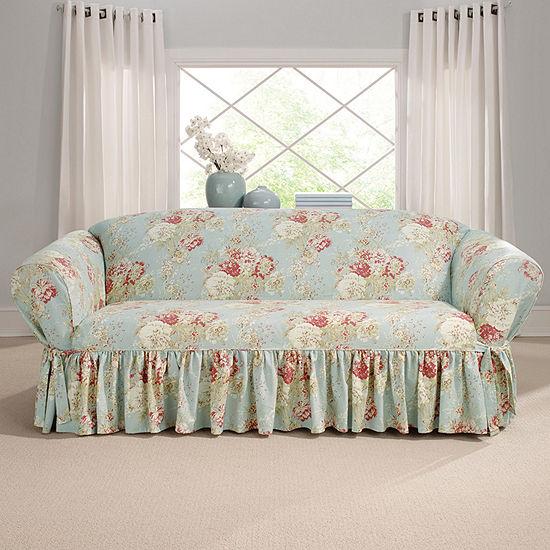 Sure Fit Ballad Bouquet 1pc Shrd Sofa Slipcover