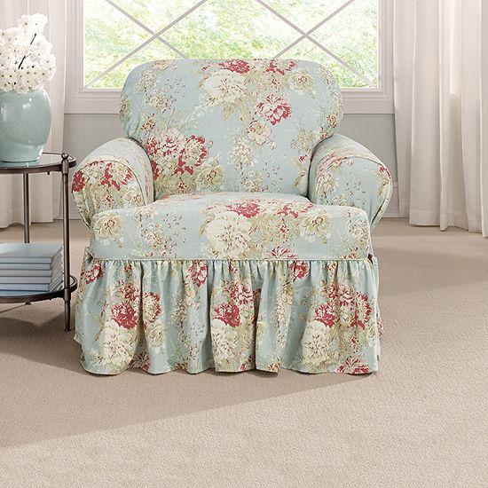 Sure Fit Ballad Bouquet 1pc Armchair Slipcover
