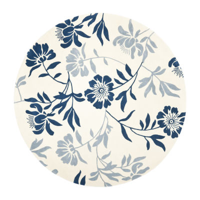 Safavieh Capri Collection Gervase Floral Round Area Rug