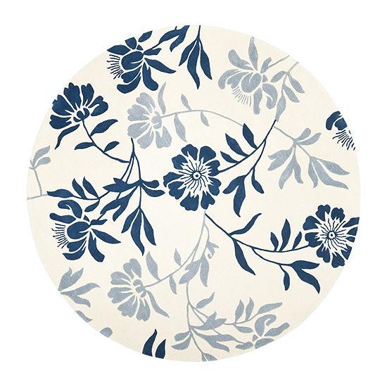 Safavieh Capri Collection Gervase Floral Round Area Rug