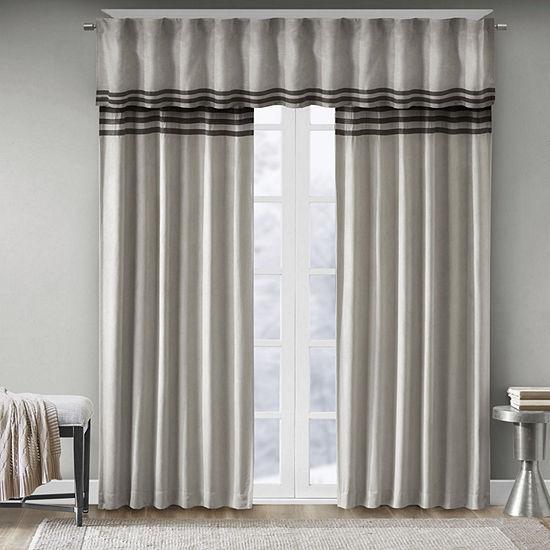 Madison Park Rod-Pocket Curtain Panel