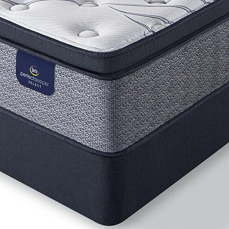 Serta Perfect Sleeper Elmcrest Plush Pillowtop - Mattress + Box Spring, One Size , Blue