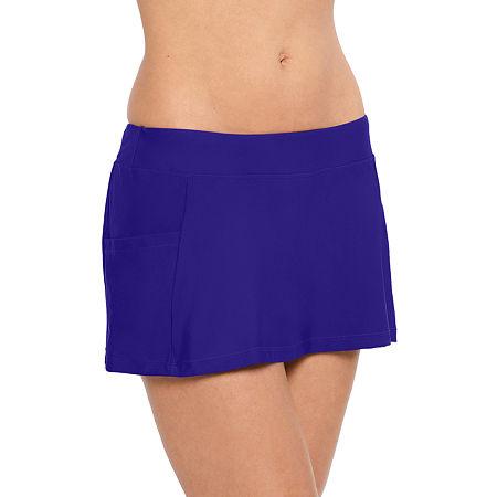 Splashletics Swimsuit Bottom Swim Skirt, Small , Blue