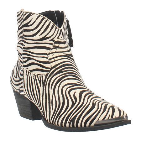 70s Shoes, Platforms, Boots, Heels | 1970s Shoes Dingo Womens Hairy Up Booties Block Heel 7 Medium Black $103.96 AT vintagedancer.com