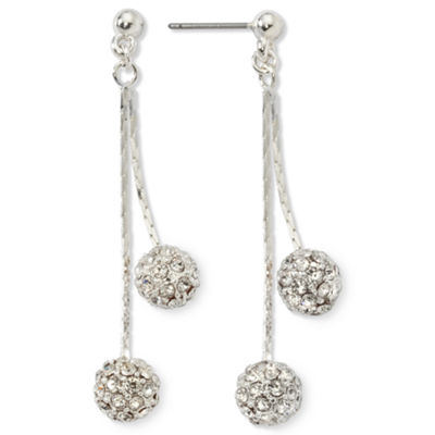 Monet® Crystal Linear Drop Earrings