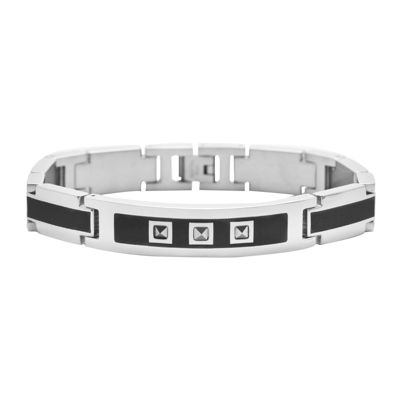 Mens Stainless Steel Spike Bracelet
