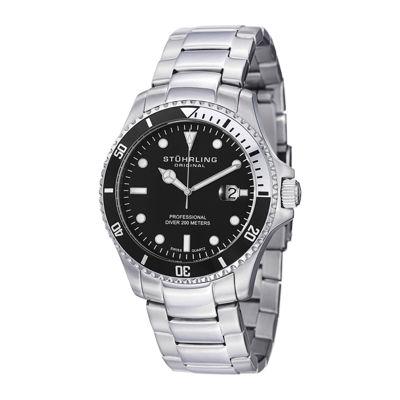 Stuhrling Mens Silver Tone Bracelet Watch