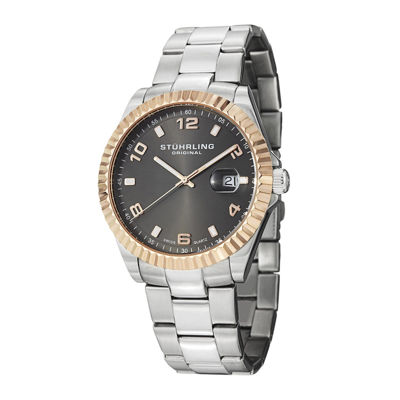 Stührling® Original Mens Gray Dial Stainless Steel Watch