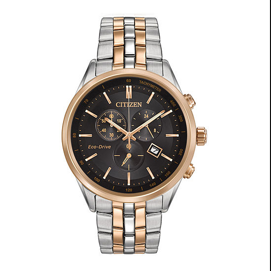 Citizen Corso Mens Chronograph Two Tone Stainless Steel Bracelet Watch-At2146-59e