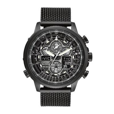 Citizen® Eco-Drive® Navihawk A-T Mens Mesh Strap Chronograph Watch JY8037-50E