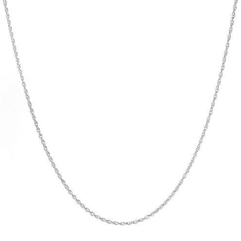 """Silver-Plated 16-24"""" Twisted Rope Chain"""