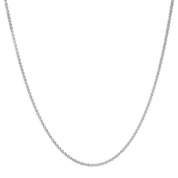 "Silver-Plated 18"" Rolo Chain"