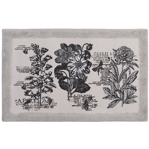 Creative Bath™ Sketchbook Botanical Toile Bath Rug