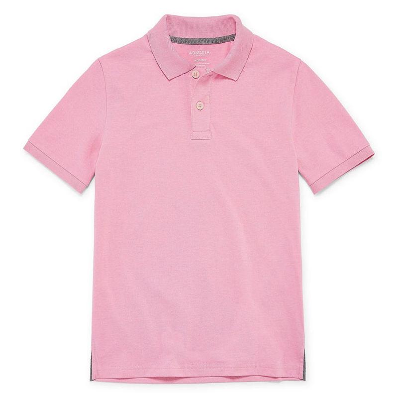 57c567cf729 UPC 054402140109 product image for Arizona Short Sleeve Flex Polo Shirt  -Boys 4-20