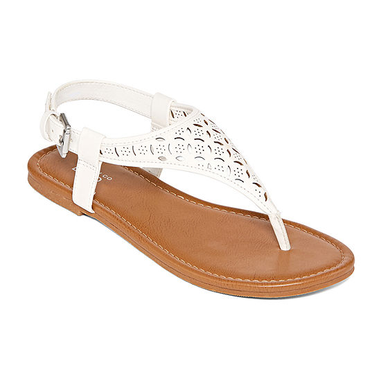 Arizona Womens Seymour Adjustable Strap Flat Sandals