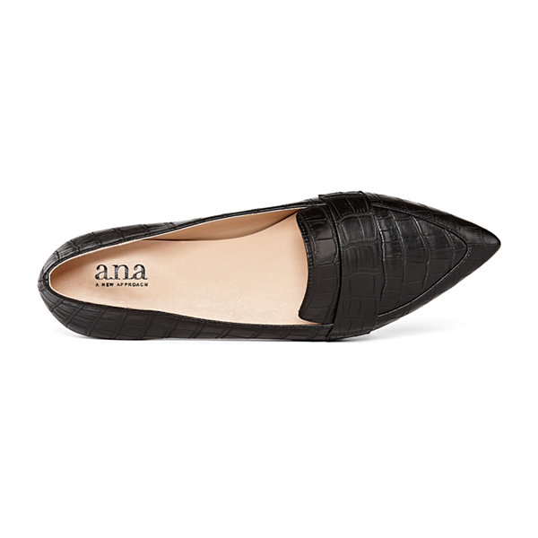 a.n.a Womens Glen Slip-on Pointed Toe Ballet Flats